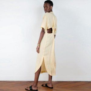 Brand New Frankie Shop Twist Back Linen Dress